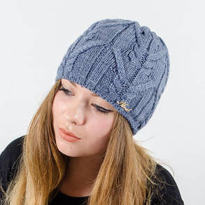 """Вязаная женская шапка """"Jemi"""", фото 2"""