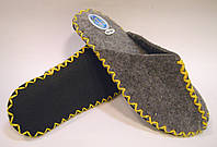 Войлочные тапочки ручной работы женские с желтым шнурком