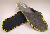 Войлочные тапочки ручной работы женские с желтым шнурком, фото 1