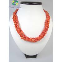 """Эксклюзивное ожерелье из коралла """"Плетение"""""""