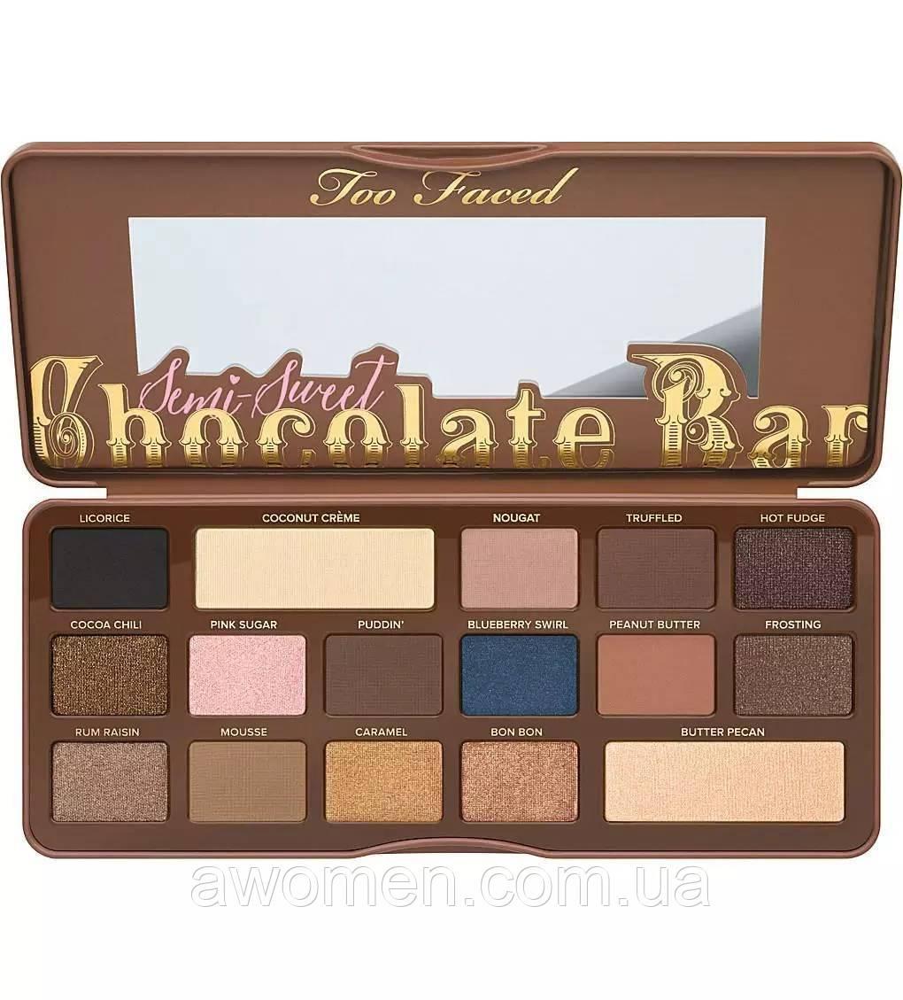 Тени для глаз Too Faced Semi-Sweet Chocolate Bar Eye Shadow Collection