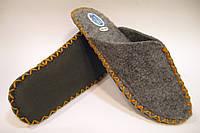 Домашние войлочные эксклюзивные тапочки для мужчин с горчичным шнурком