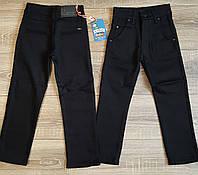 Штаны,джинсы на флисе для мальчика 116-134 см(розн)(черные02) пр.Турция