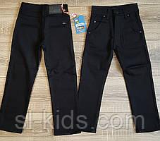 Штаны,джинсы на флисе для мальчика 110-122 см (черные 02) пр.Турция