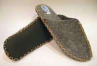 Войлочные эксклюзивные тапочки для мужчин с бежевым шнурком
