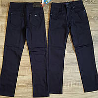 Штаны,джинсы на флисе для мальчика 140-164 см(розн)(темно синие) пр.Турция