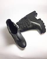 Весенние полусапожки ботинки на широком каблуке,