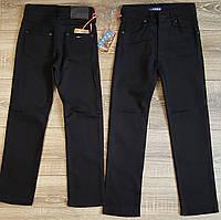 Штаны,джинсы на флисе для мальчика 140-164 см(розн)(черные) пр.Турция