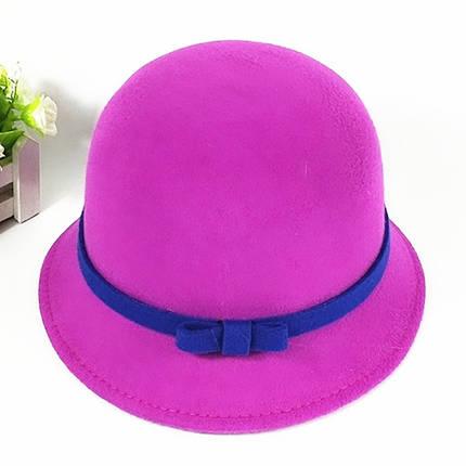 Шляпка с контрастным бантиком , фото 2