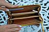 Кошелек женский из натуральной кожи золотой супер качество, фото 4