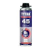 Монтажно-уплотнительная профессиональная Пена O2 (45 литров) TYTAN, 750 мл