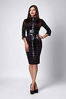 Костюм мод №269-7, размеры 44,46,48 Версаче черный с бордо, фото 1