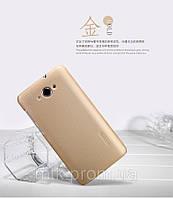 Чехол бампер пленка Nillkin Super Frosted Shield для телефона смартфона Lenovo S930 golden золотистый