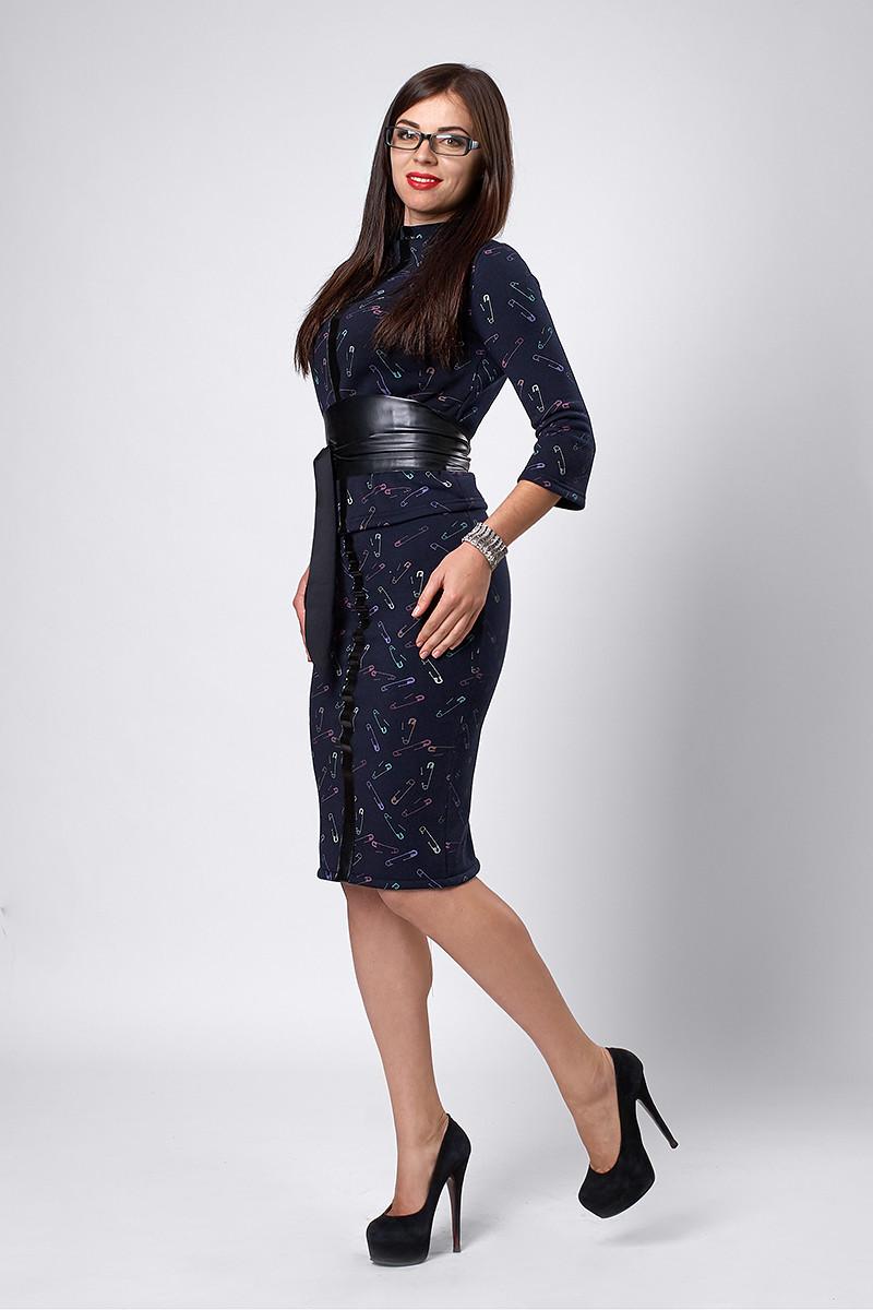 Костюм мод №269-8, размеры 44,46,48 шпилька серая, фото 1