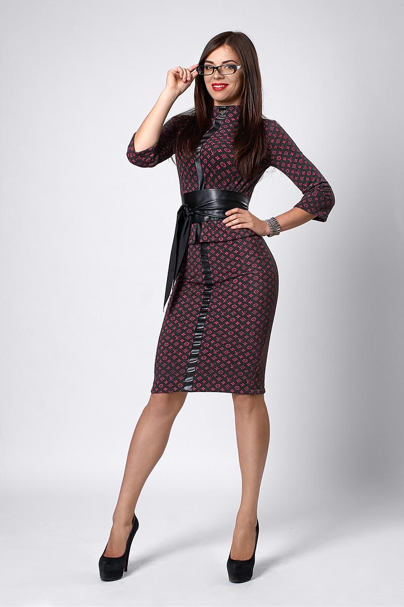 Костюм мод №269-9, размеры 42 Луи Витон черный