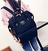 Женский рюкзак сумка городской школьный Living Черный, фото 3