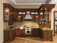 Кухня Классика Дерево Орех темный