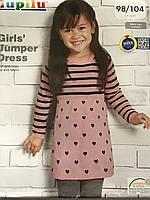 Платье детское с длинным рукавом на девочку Lupilu 2-4 года