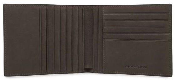 Кожаное портмоне Piquadro с отделениями для 12 кредитных карт PU1241B3_TM коричневый
