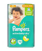 Pampers Active Baby-Dry Maxi Plus 4+ (9-16 кг), 70 шт. GIANT PACK