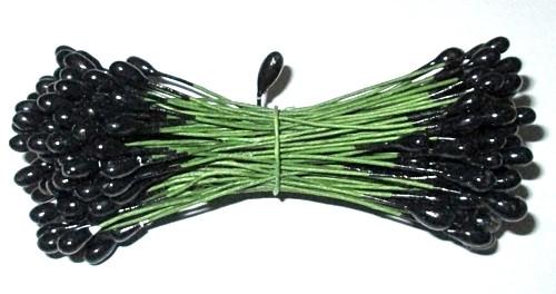 Тычинки искусственные 7 см, черные