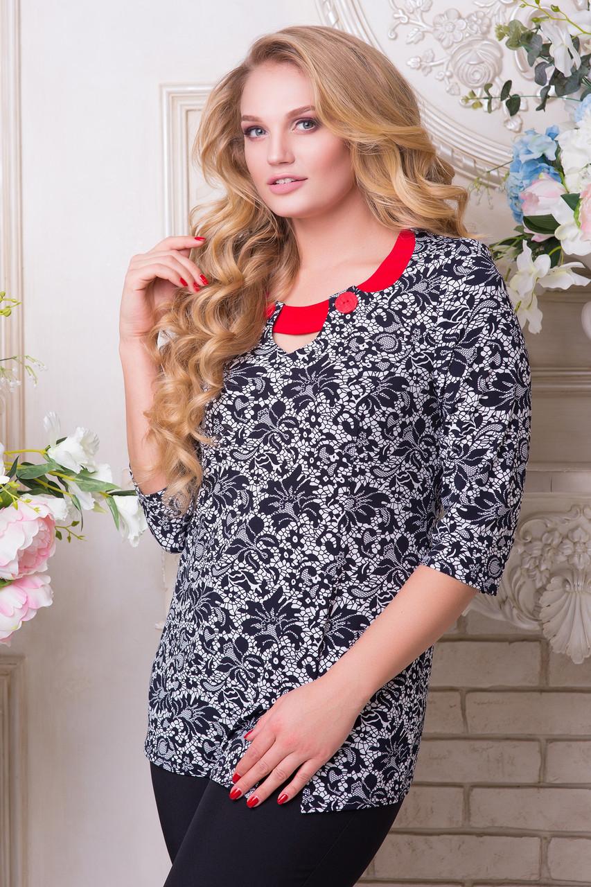 2c21d72c8cb Красивая блузка с имитацией кружева большие размеры 52