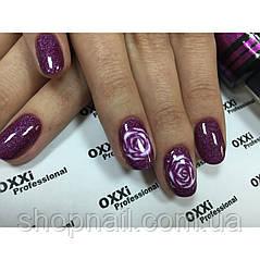 Гель-лак OXXI Professional №090 (темный розовый с очень мелкими голографическими блестками), 8 мл, фото 2