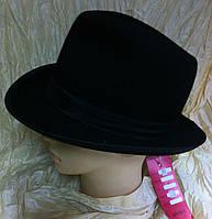 Фетровая  мужская шляпа с полями 6 см