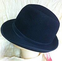 Мужская  шляпа из фетра  маленькие  поля 5 см