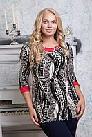 Женская блузка больших размеров 52,54,56,58,60,62