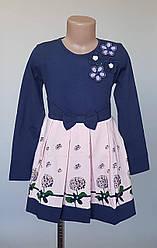 Платье для девочек украшенное цветами