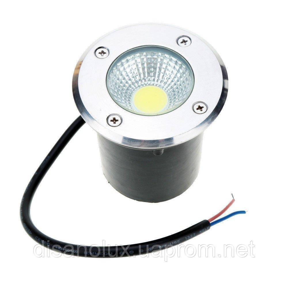 Светильник грунтовый QR-01 LED COB 10W  /4100К  220V  IP65  размер  80мм*75мм