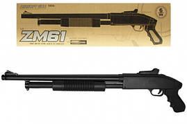 Игрушечный Дробовик винтовка металлический на пульках ZM61