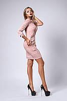 Платье мод №293-4, размеры 48 пудра