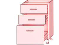 High gloss  63 НИЗ (3 шухляды)