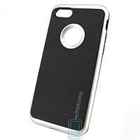 Чехол-накладка матовый Motomo iPhone 7 серебристый