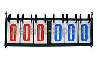 Табло перекидное для игр C-0039(006) (3х3, металл, пластик, р-р 55,5см x19см)