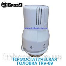 Термостатическая головка с жидкостным датчиком 30*1,5 TRV-09 Gross (термоголовка)