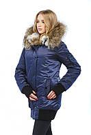 Зимняя удлиненная куртка-бомбер 2018 (рр 44-52), цвета в ассортименте