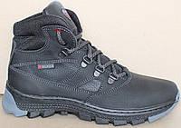 Детские зимние ботинки кожаные, зимняя обувь детская обувь от производителя модель ВОЛ33ЧП