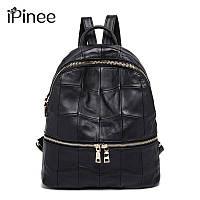 Рюкзак женский стильный из натуральной кожи Ipinee  (черный)