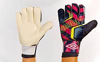 Перчатки вратарские FB-840-2 UMB (PVC, р-р 9-11, черный-красный-желтый)