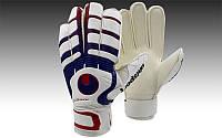 Перчатки вратарские с защитными вставками на пальцы FB-842-3 UHLSPORT (PVC, р-р 8-10, синий-красный-