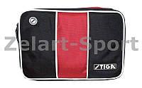Чехол на ракетку для настольного тенниса STIGA SGA-884901 STRIPE (PL, черно-красный, р-р 30х21см)