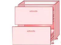 High gloss  82 НИЗ (2 шухляды)