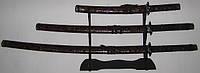 Набор самурайских мечей кожа змеи, оригинальные сувениры