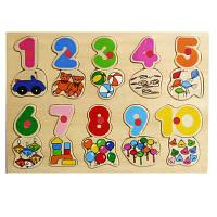 """Детский деревянная игрушка Вкладыш  """"Количество и цифры"""""""