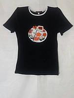 Футболка жіноча з розписом ручної роботи Футболка женская с росписью