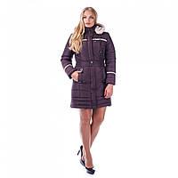 Женское утепленное пальто из плащевой ткани
