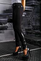Стильные женские брюки-лосины (высококачественный плотный турецкий трикотаж, эко-кожа, вышивка)